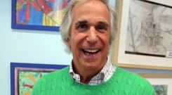 Henry Winkler has been given a gold Blue Peter badge