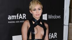 Miley Cyrus' dress left little to the imagination