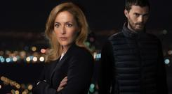 Gillian Anderson and Jamie Dornan star in TV thriller The Fall (BBC)