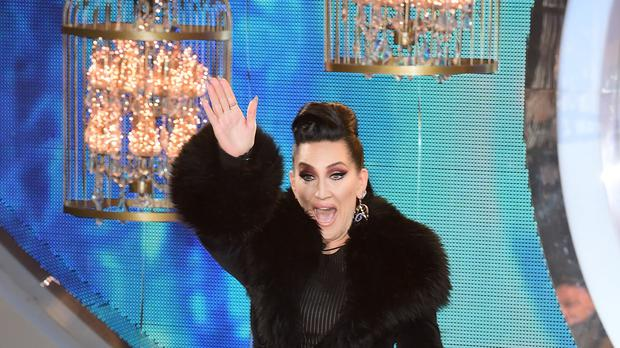 Michelle Visage entering the Celebrity Big Brother house