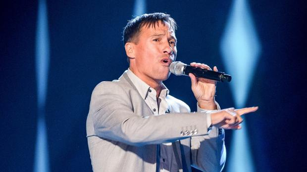 Nathan Moore, a former star of Brother Beyond, auditions on The Voice