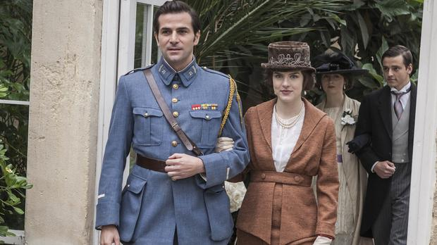 Gregory Fitoussi and Aisling Loftus as Henri and Agnes Leclair in Mr Selfridge (ITV)