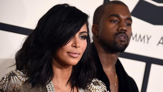 Kim Kardashian showed off her new hairstyle at the Grammy Awards