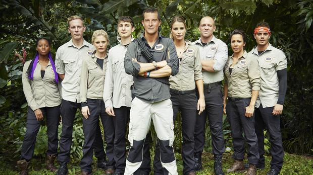 Bear Grylls: Mission Survive leads a group of celebrities through the rainforest