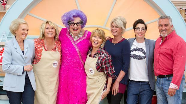 Dame Edna Everage tested her cooking skills in the Great Comic Relief Bake Off