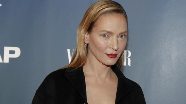 Uma Thurman has shrugged off negative comments about this bold make-up look