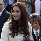 The Duchess of Cambridge arrives for a visit to the world famous Ealing Studios in west London, where she met the cast and crew of the popular drama Downton Abbey
