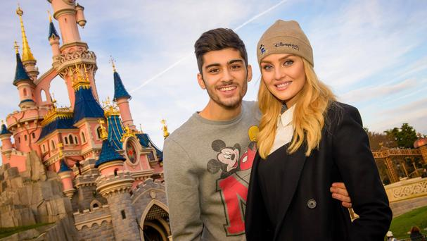 Zayn Malik and Perrie Edwards enjoying a visit to Disneyland Paris
