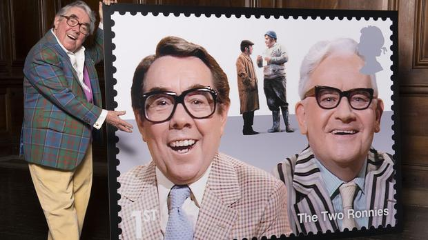 The Two Ronnies are among the comedians to be featured on Royal Mail stamps