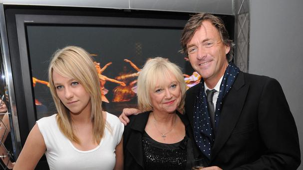 Chloe Madeley with her parents Richard Madeley and Judy Finnigan