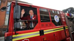 Comic Al Murray arrives at Thanet District Council offices in Margate