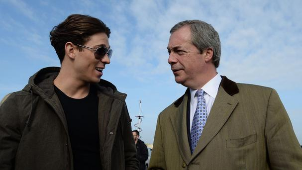 Ukip party leader Nigel Farage met The Only Way is Essex star Joey Essex in Grimsby
