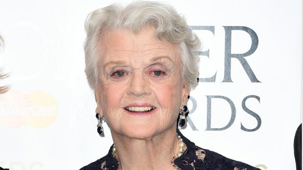 Angela Lansbury with the Olivier Award for Best Supporting Actress
