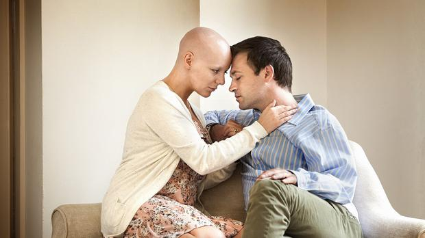 Sheridan Smith as Lisa Lynch and Paul Nicholls as Pete Lynch during The C Word, a new BBC film.