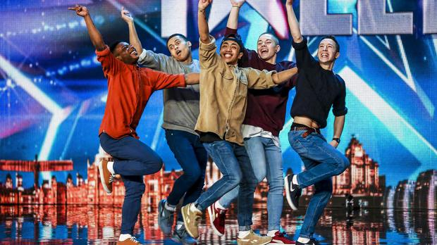Boyband during their audition for Britain's Got Talent (SYCO/THAMES)