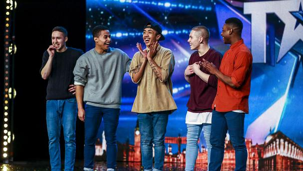 Dance group Boyband on Britain's Got Talent (Syco/Thames TV/ITV)