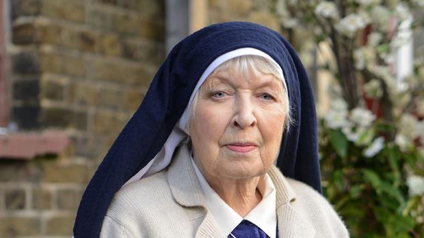 June Whitfield as Sister Ruth who is making a one-off appearance in Albert Square
