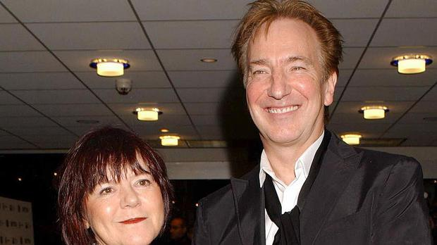 Alan Rickman and his partner Rima Horton, pictured in 2002, who have married after 50 years together
