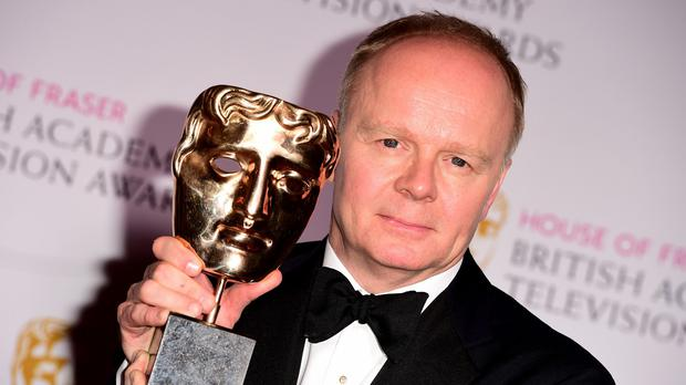 Jason Watkins with the Leading Actor Award for The Lost Honour of Christopher Jefferies