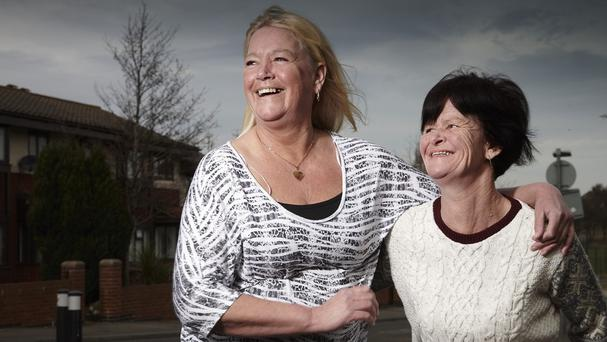 Julie Young, left, and Sue Griffiths feature in the new series of Benefits Street filmed on Kingston Road in Stockton-On-Tees (Channel 4/PA)