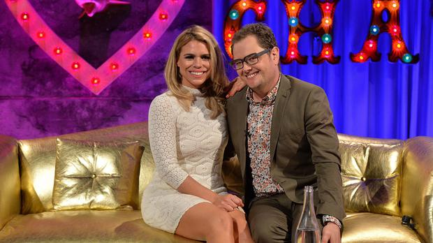 Billie Piper talks to host Alan Carr about the second series of the Sky Atlantic TV show Penny Dreadful on Friday's episode of Alan Carr: Chatty Man (Channel 4/PA)