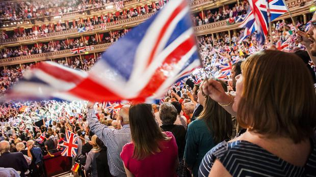 Flying the flag - the Last Night of the BBC Proms at the Royal Albert Hall