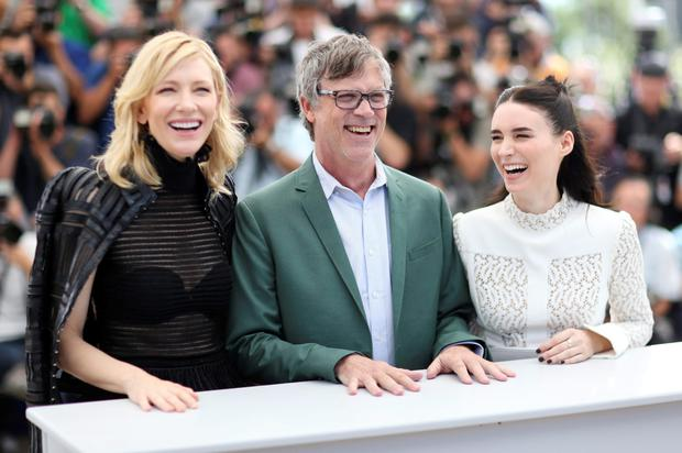 Actress Cate Blanchett, director Todd Haynes, and actress Rooney Mara during a photocall for the film Carol