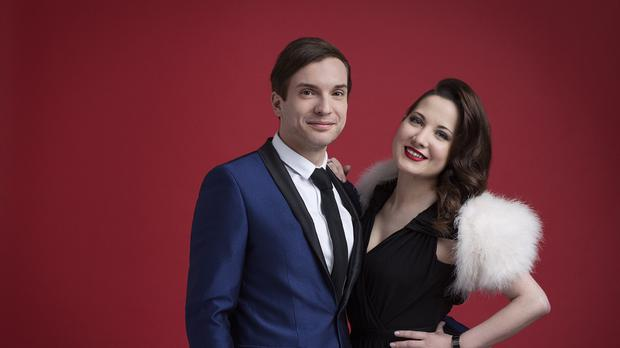 Electro Velvet, a musical duo consisting of Alex Larke and Bianca Nicholas, who will represent the UK at the Eurovision Song Contest 2015