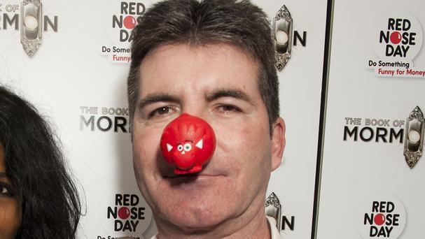 Simon Cowell supported America's first Red Nose Day event