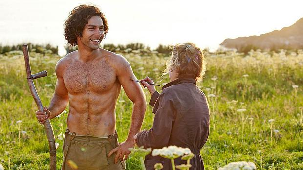 Poldark star Aidan Turner on set as ITV plc buys the show's production company Mammoth Screen