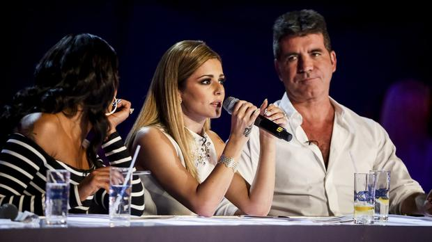Simon Cowell and Cheryl on the X Factor (PA/SyCo/ThamesTV)