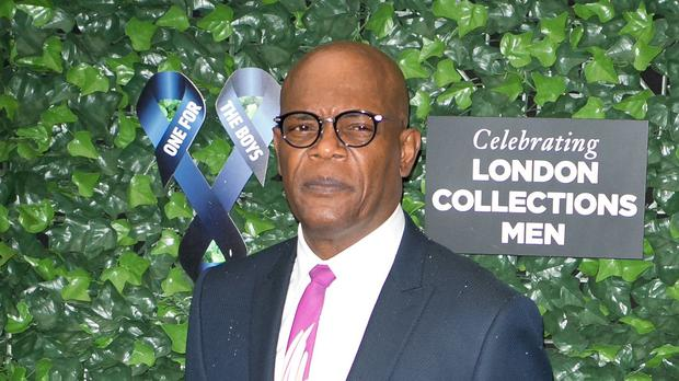 Samuel L Jackson arrives at the One For The Boys charity fashion ball at the Roundhouse in London