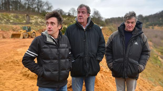 Jeremy Clarkson, Richard Hammond and James May in the final Top Gear show featuring the three (BBC/PA)