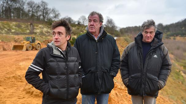 (left to right) Richard Hammond, Jeremy Clarkson and James May in the final Top Gear show featuring the trio (BBC)