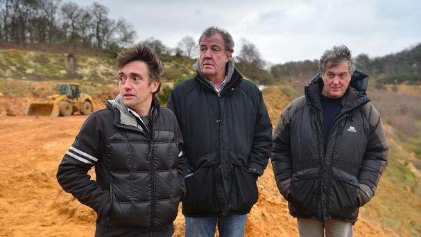 (Left to right) Richard Hammond, Jeremy Clarkson and James May in the final Top Gear show featuring the three