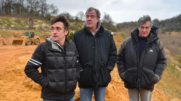 Richard Hammond, Jeremy Clarkson and James May in the final Top Gear show featuring the three presenters (BBC/PA)