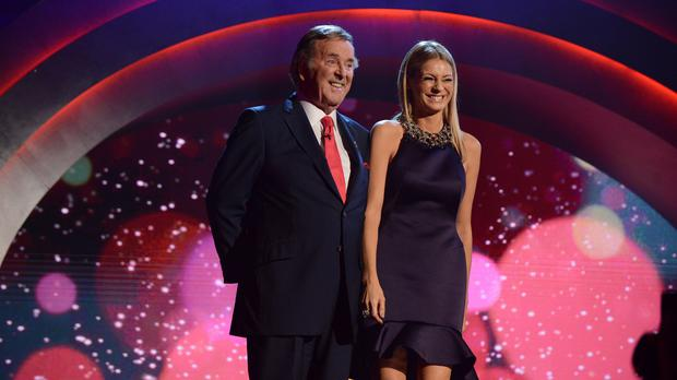 Last year's Children in Need hosts Sir Terry Wogan and Tess Daly