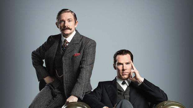 Benedict Cumberbatch (right) and Martin Freeman are set to return in a special episode of Sherlock