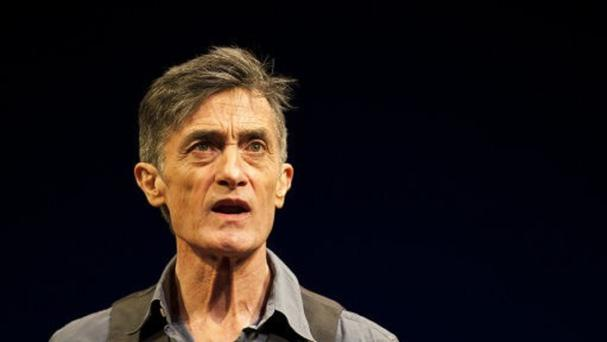 Roger Rees performs live on stage in 'What You Will'' at the Apollo Theatre on Shaftesbury Avenue, London.