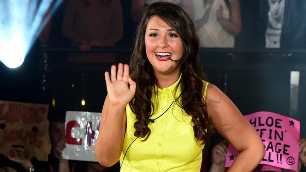 Self-proclaimed 'chav' Chloe Wilburn celebrates after winning Big Brother