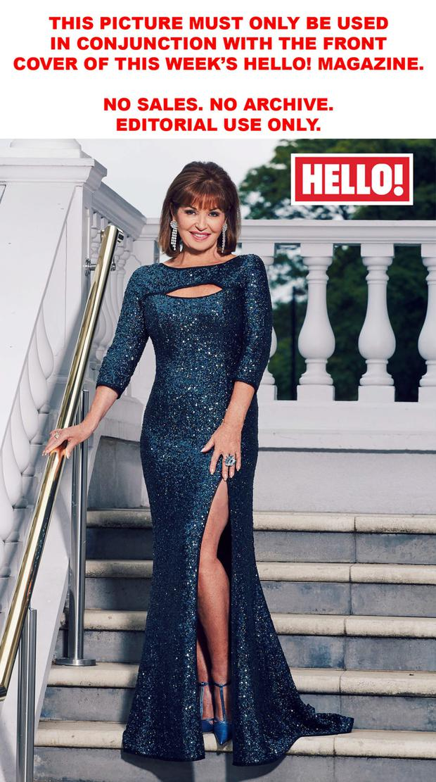 Former star of 'Dynasty' Stephanie Beacham, who appears in this week's edition of 'Hello!'