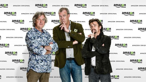 James May, Jeremy Clarkson and Richard Hammond have signed a deal for a new motoring show with Amazon (Amazon/PA)