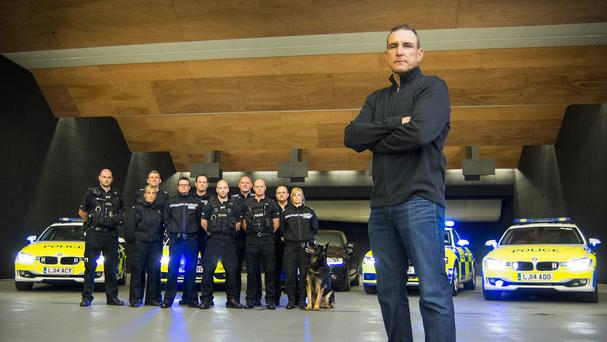 Vinnie Jones has spent seven days with Northumbria Police's Operation Dragoon road policing unit (Northumbria Police/PA)