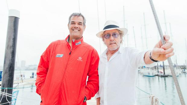 The Who frontman Roger Daltrey as he joined his friend, restaurateur Gary Colt in Southampton before he take part in a sailing race to raise money for two cancer charities.