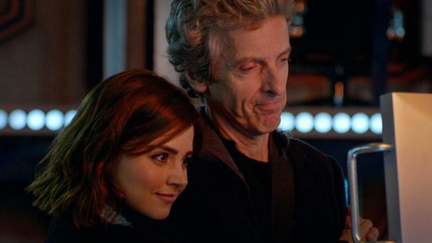 Jenna Coleman (left) and Peter Capaldi in a trailer for Doctor Who (BBC)