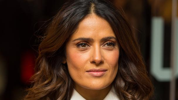Salma Hayek has accused two women of making a veiled threat to kidnap and ransom her daughter