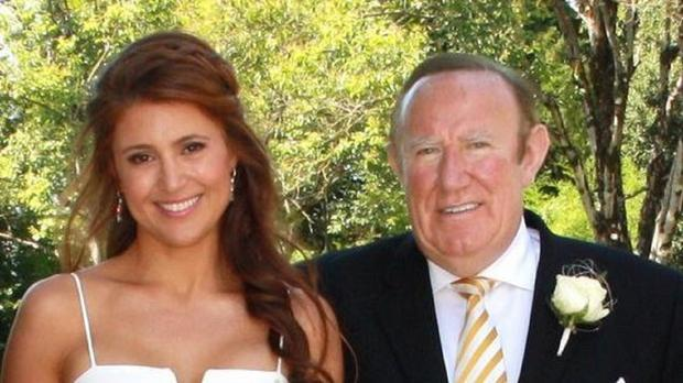 A screengrab taken from the Twitter feed of political commentator Andrew Neil of his wedding to Susan Nilsson in France. (@afneil/PA)
