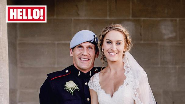 Amy Williams and her husband Crag Ham appear in this week's edition of Hello! Magazine (Hello! Magazine/PA)