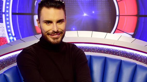 Presenter Rylan Clark in the diary room of the new look Big Brother house in Borehamwood, before the start of the UK v USA Celebrity Big Brother on Thursday