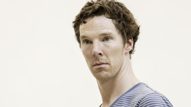 Benedict Cumberbatch in rehearsal for Hamlet